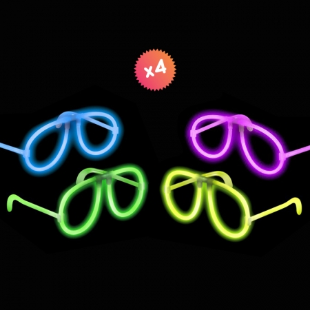 4 glowing Glasses
