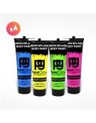 4 tubes 250ml peinture pour PAINT PARTY