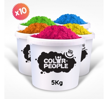PACK OF 10 X 5 KG HOLI POWDER BUCKETS