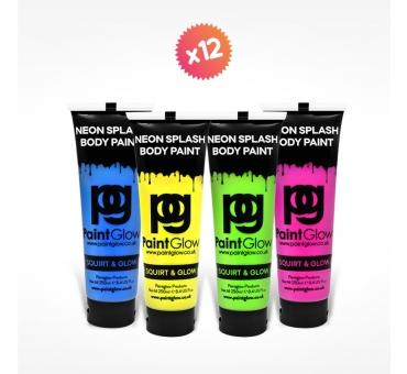 12 tubes 250ml peinture pour PAINT PARTY