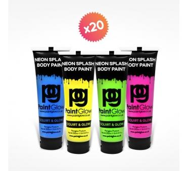 20 tubes 250ml peinture pour PAINT PARTY