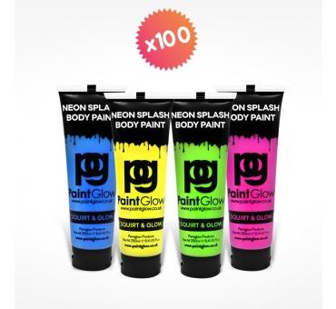 100 tubes 250ml peinture pour PAINT PARTY