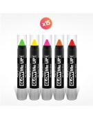 5 crayons maquillage FLUO