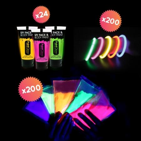 Pack HOLI FLUO Party pour 200 personnes
