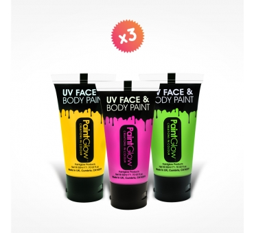 3 tubes 50ml maquillage FLUO