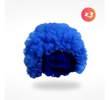 3 perruques afro