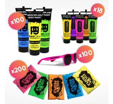Pack Color Fight 100 pers.