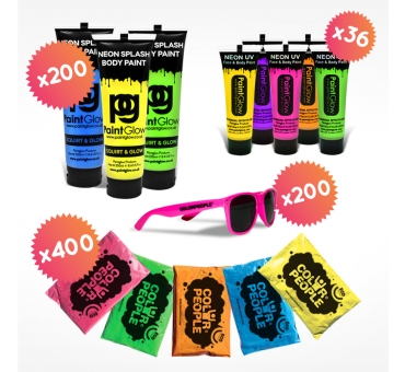 Pack Color Fight 200 pers.