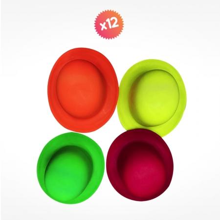 12 CHAPEAUX FLUO assortiment de couleurs