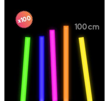 100 pailles FLUO 1 mètre